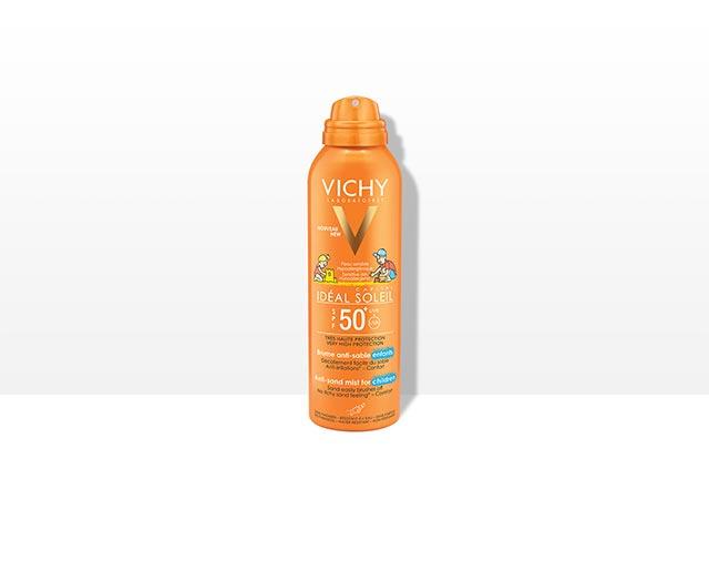 ספריי דוחה חול להגנה על העור מפני נזקי השמש SPF50+  מתאים לשימוש על עור הפנים והגוף – מיוחד לילדים!